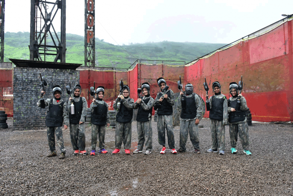 kids-enjoying-paintball-at-della-adventure-park