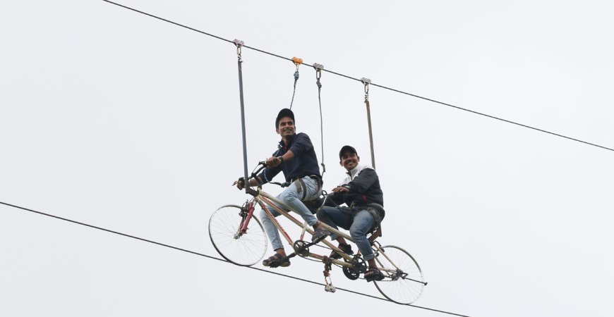 Be a High Flying Risk Taker at Della Adventure Park