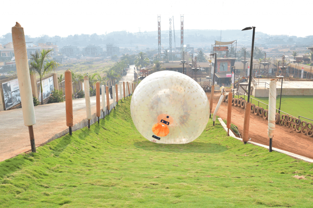 land-zorbing-at-della-adventure-park
