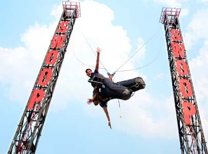 Enjoy India's only Swoop Swing at Della Adventure Park