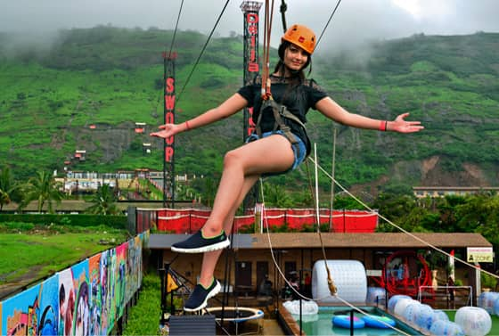 Enjoy India's Longest Flying Fox at Della Adventure Park