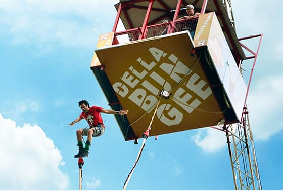 Enjoy Bungee Jumping at Della Adventure Park