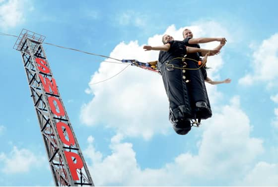 Must try India's only Swoop Swing at Della Adventure