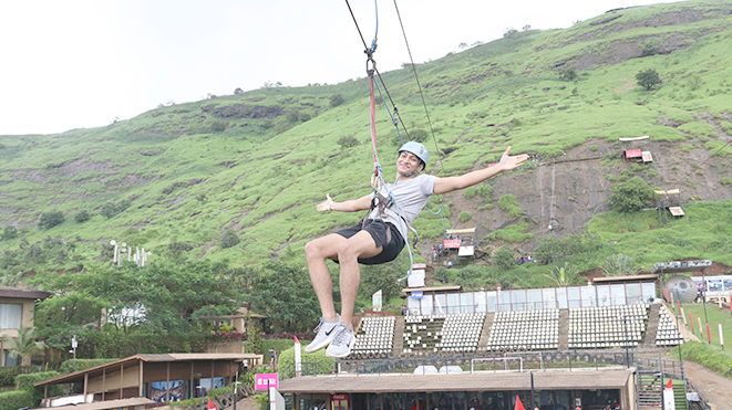 Experience Flying Fox (500 ft) Adventure Sport at Della in Lonavla
