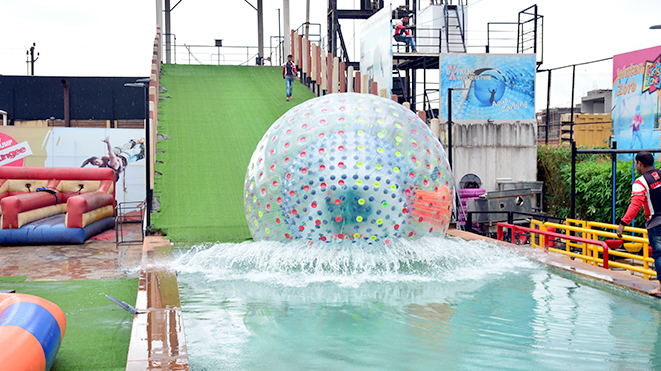 Experience activity Aqua Zorb at Della Adventure Park