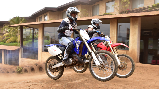 Ride 250cc dirt bike at Della Adventure Park, Lonavla