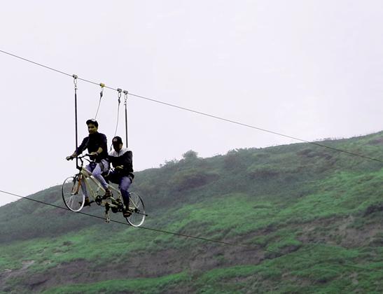 Enjoy Sky Cycling at Della Adventure Park