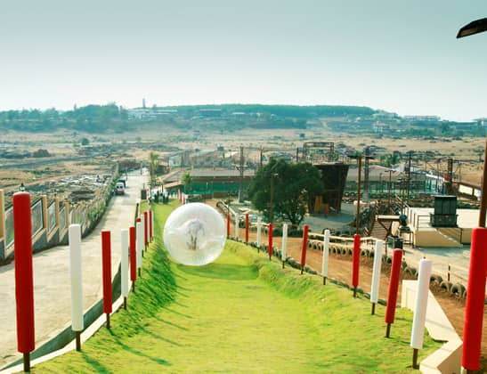 Play Land Zorbing at Della Adventure