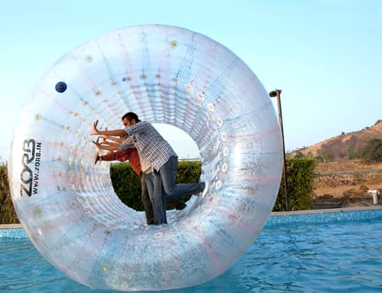 Enjoy Roller Zorbing at Della Adventure Park