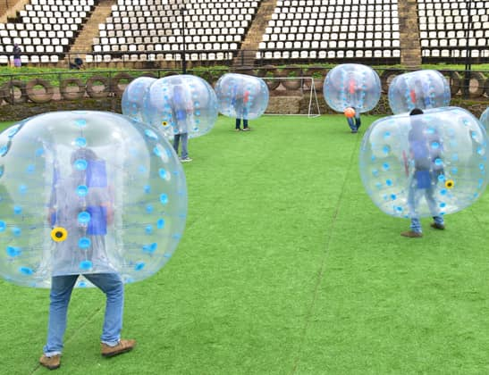 Play Bubble Soccer at Della Adventure