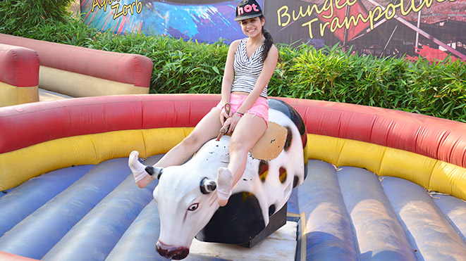 Must Try Rodeo Bull Ride at Della