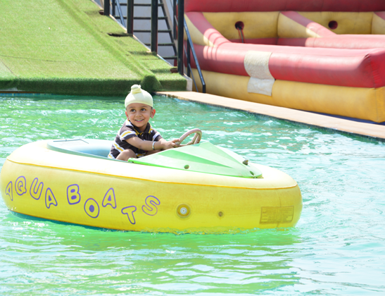 Play Bumper Boat at Della Adventure