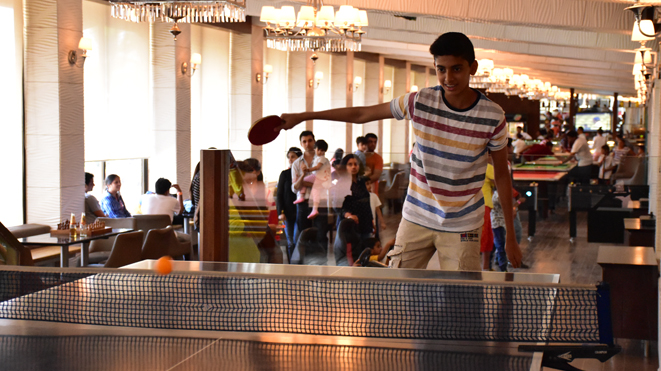 Enjoy Table Tennis with your family members at Della