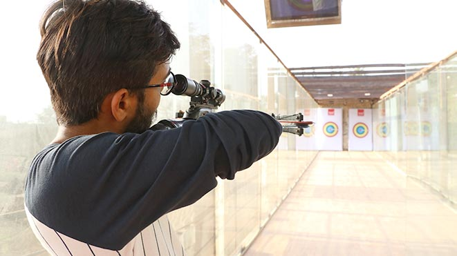 Experience Pistol Bow adventure sport at Della