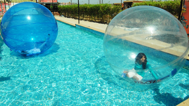 Experience activity Water Zorb at Della Adventure Park