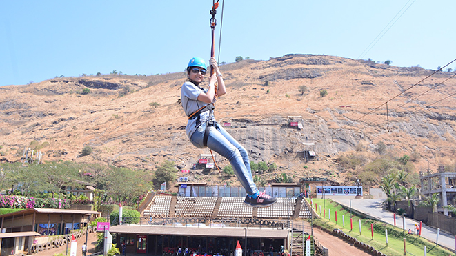 Try Flying Fox (500 ft) at Della Adventure Park