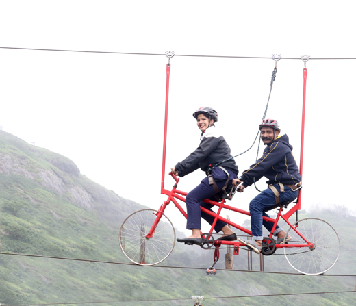 Experience Sky Cycling at Della Adventure Park