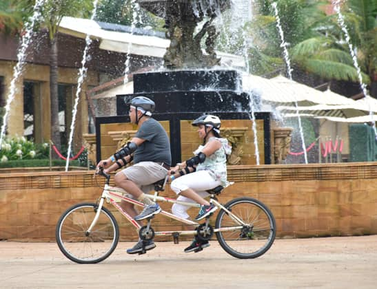 Enjoy Double Seater Tandem Cycling at Della Adventure