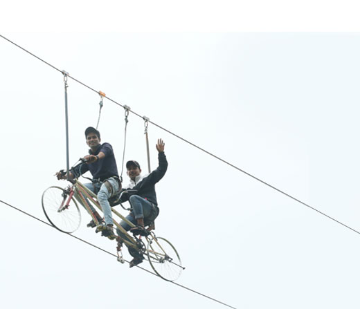 Enjoy Sky Cycling at Della Adventure Park