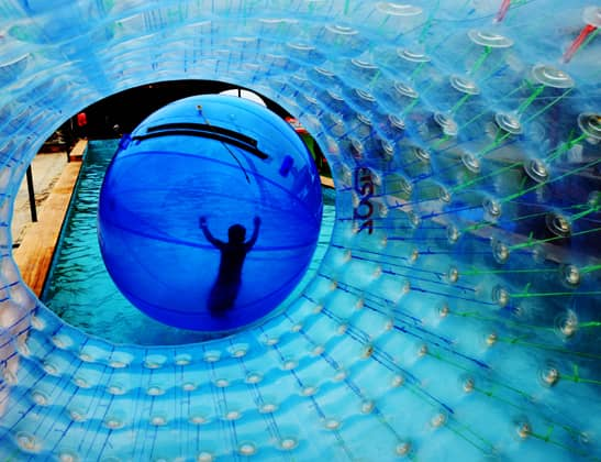 Aqua Zorb at Della Adventure Park