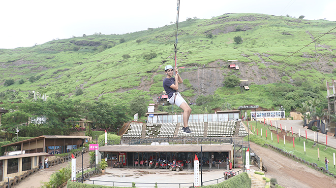 Flying Fox (500 ft) at Della, Lonavla