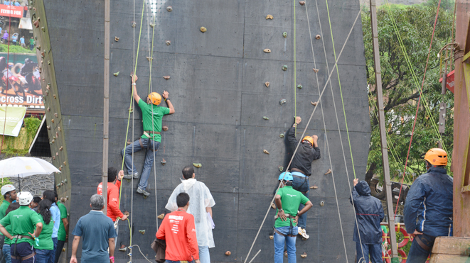 Enjoy Artificial Rock Climbing at della Adventure Park
