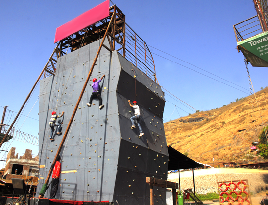 Experience Artificial Rock Climbing at Della Adventure Park