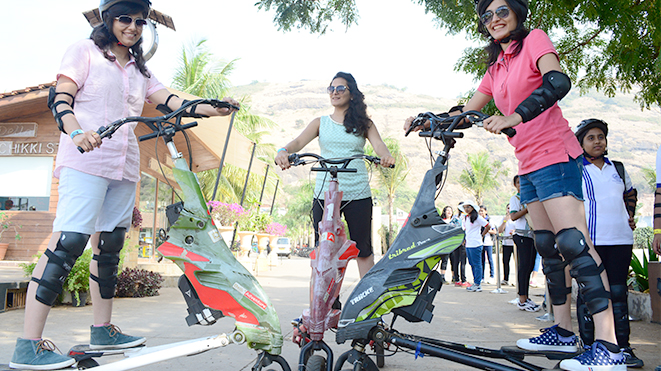 Ride a Trikke at Della Adventure Park, Lonavla