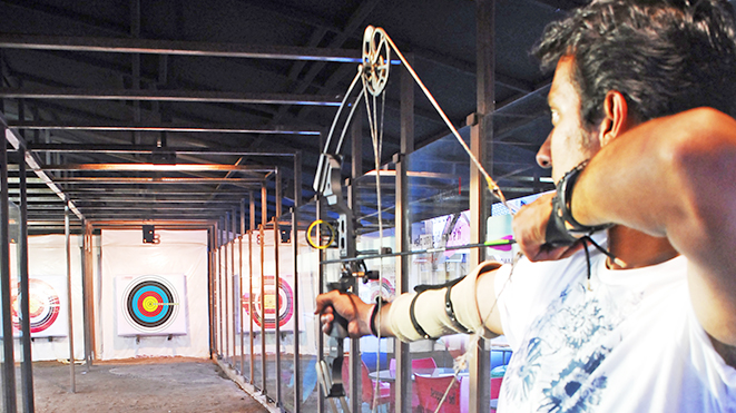 Enjoy Archery- Compound Bow at Della Adventure Park