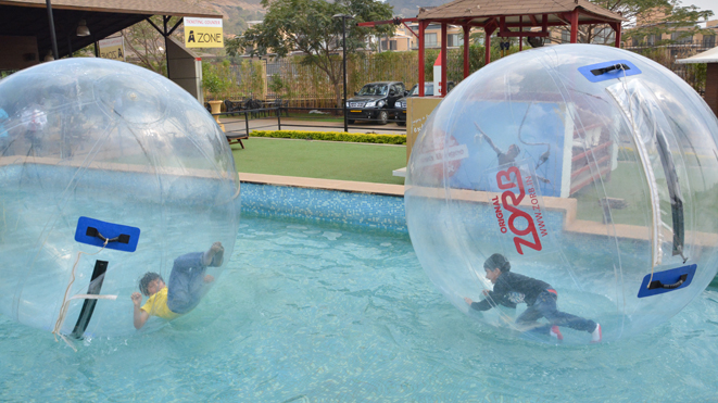 Must Try Water Zorb at Della Adventure Park