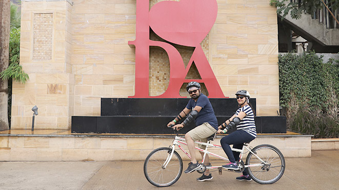 Must Try activity Riding Double Seater Tandem Cycle at Della