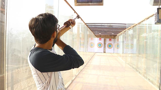 Test your shooting skills with Blowgun activity at Della