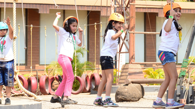 Low Rope Challenge Course at Della Adventure Park
