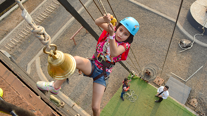 Experience Artificial Rock Climbing at Della Adventure Park, Lonavla
