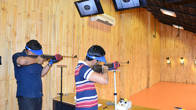 Compete with your friends at Della Shooting Range in Lonavla