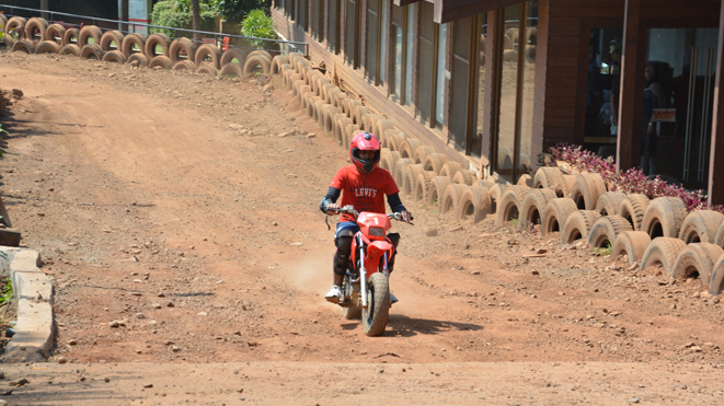 Ride Small Dirt Bike on the India's first permanent track at Della
