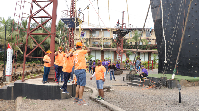 Experience Low Rope Challenge Course at Della, Lonavla