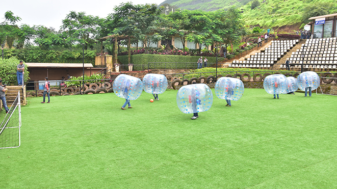 Experience safest version of soccer -Bubble Soccer at Della