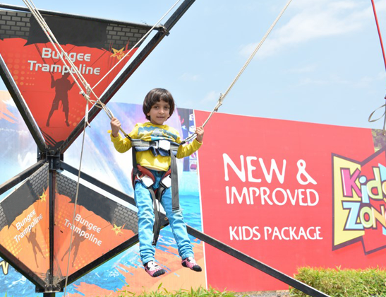 Play Bungee Trampoline at Della Adventure