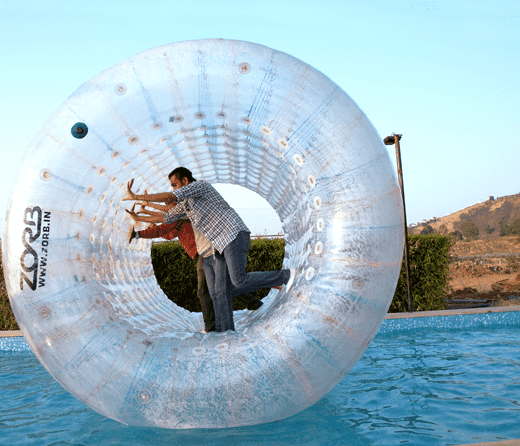 Try Roller Zorbing at Della Adventure Park