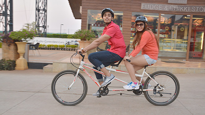 Riding Double Seater Tandem Cycle with your partners is amazing
