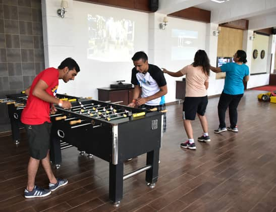 Play Foos Ball at Della Adventure
