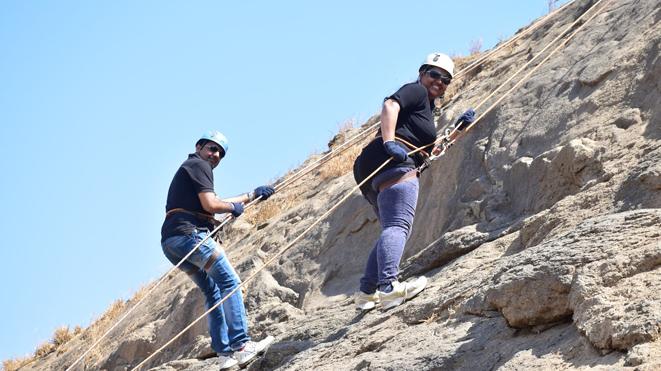 Experience Rappelling Adventure Sport at Della, Lonavla