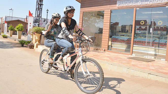 Ride Double Seater Tandem Cycle at Della